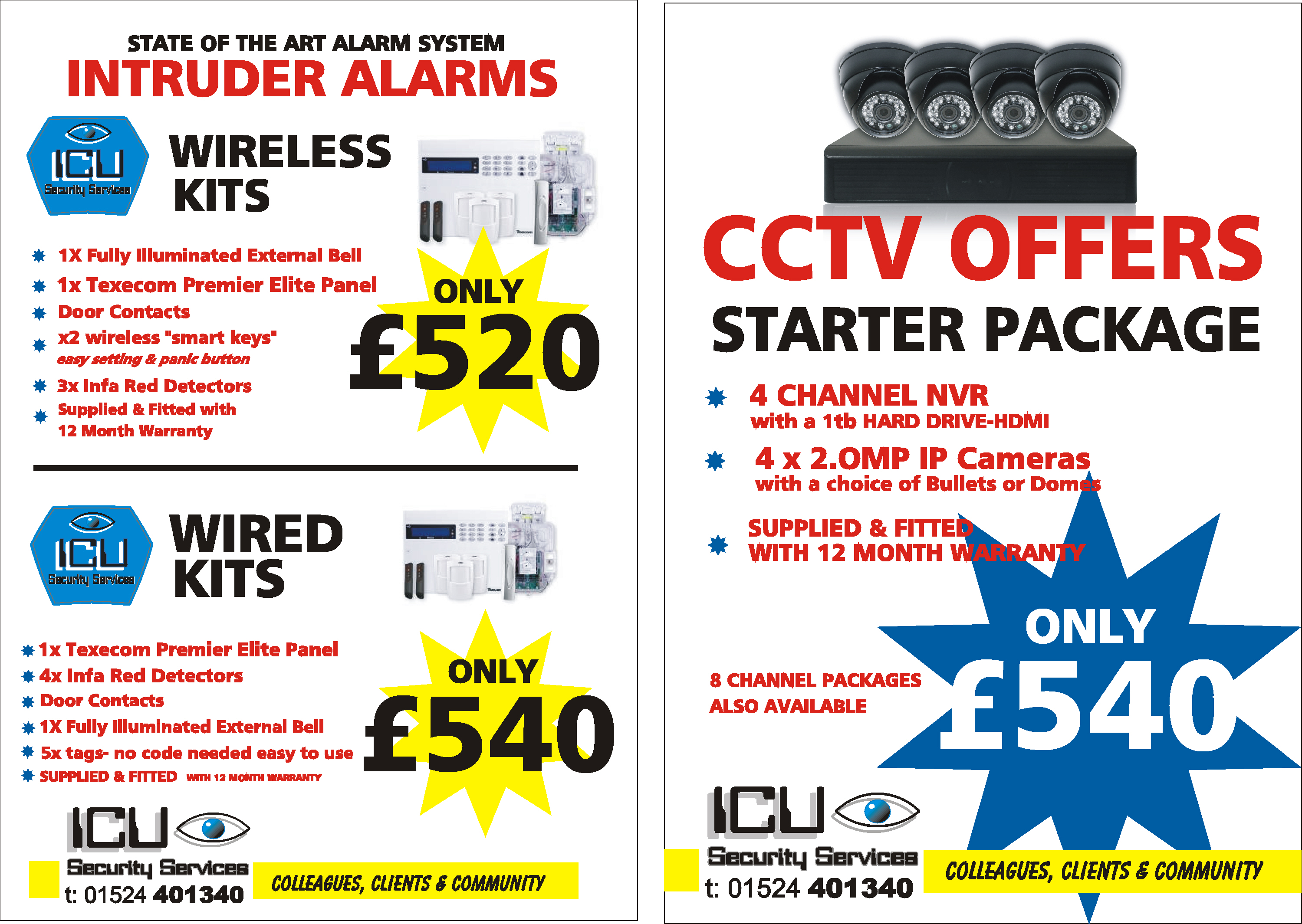 New For 2017 Alarm And Cctv Packages Security Contacts Wiring Series
